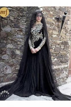 Long net gown