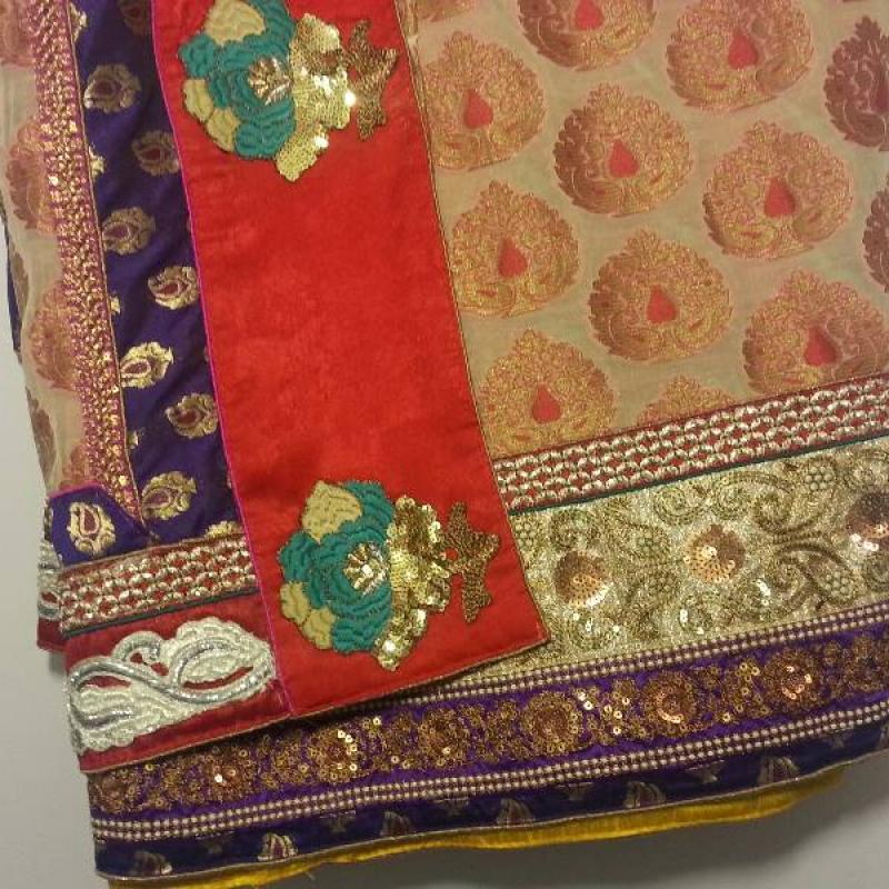 cream saree image
