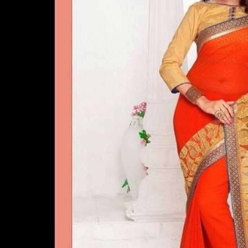 ORANGE SAREE image