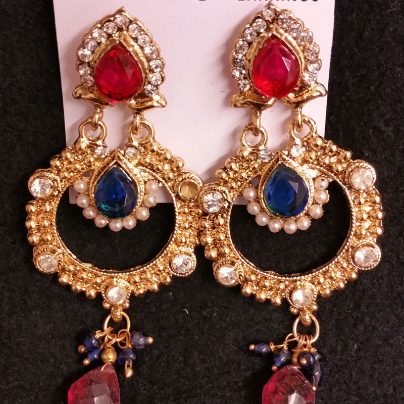 Royal Blue Drop Earrings image